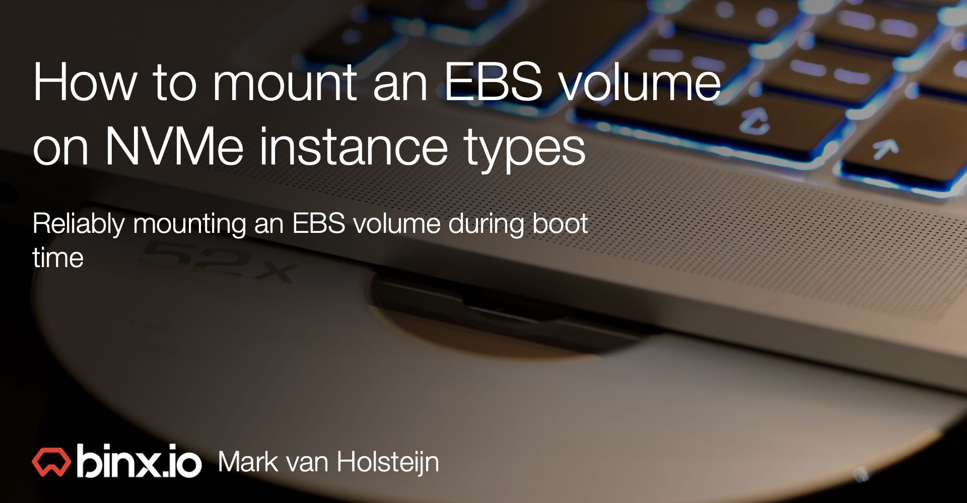 How to mount an EBS volume on NVMe based instance types