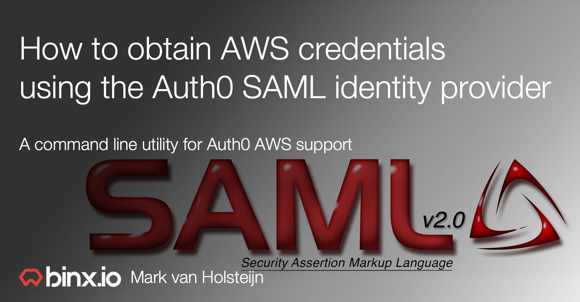 How to obtain AWS credentials using the Auth0 SAML identity
