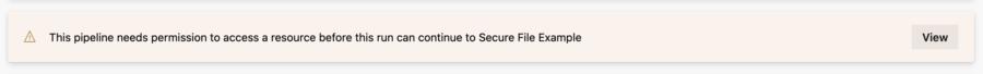 Resource authorization required
